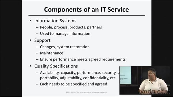 Core concepts to IT service management: ISO20000