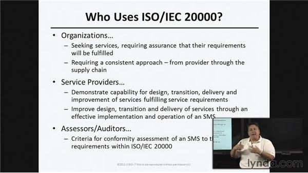 Core concepts of quality frameworks: ISO20000