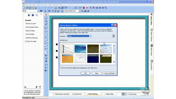Creating a slideshow from scratch: WordPerfect Office X3 Essential Training
