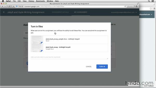 Viewing assignments and the classroom as a student: Google Classroom: First Look