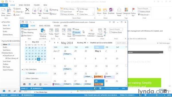 Viewing Outlook in multiple windows: Outlook 2013 Power Shortcuts