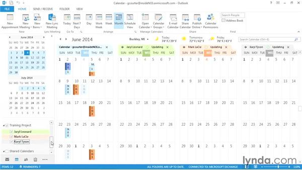 Viewing the schedule for an entire group: Outlook 2013 Power Shortcuts