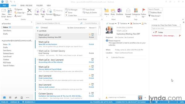 Managing your inbox: Outlook 2013 Power Shortcuts