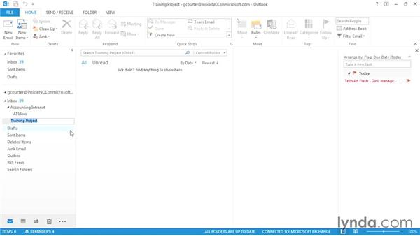 Working with folders and subfolders: Outlook 2013 Power Shortcuts