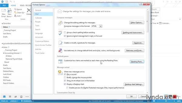 Changing the Mark as Read setting: Outlook 2013 Power Shortcuts