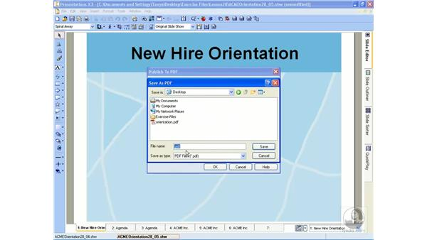 Sharing a slideshow with others: WordPerfect Office X3 Essential Training
