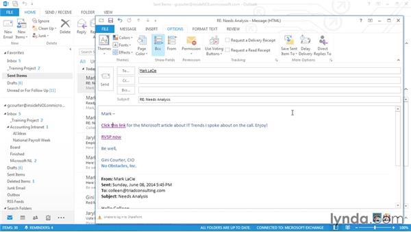 Delaying an email in the Outbox: Outlook 2013 Power Shortcuts
