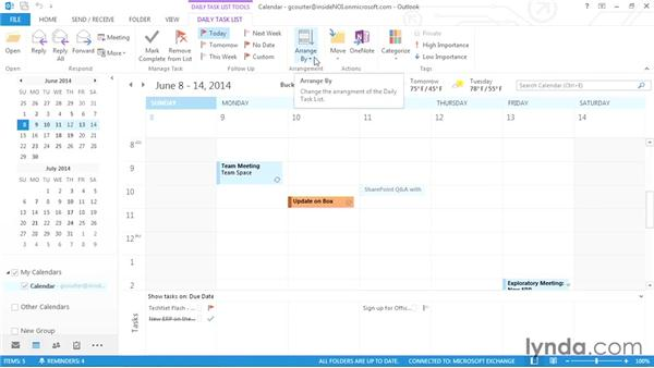 Five ways to view your tasks: Outlook 2013 Power Shortcuts