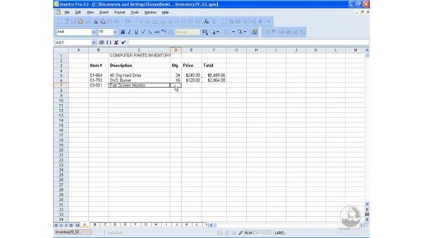 Entering data: WordPerfect Office X3 Essential Training