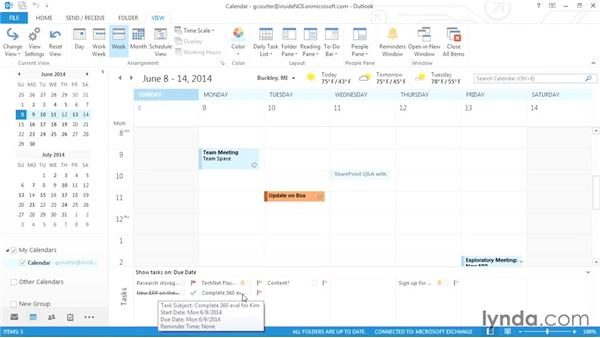Reserving calendar time for tasks: Outlook 2013 Power Shortcuts