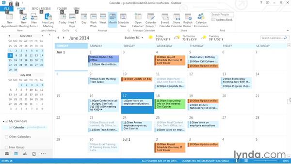 Using the Calendar with shortcut keys: Outlook 2013 Power Shortcuts