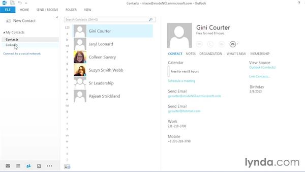 Linking your contacts: Outlook 2013 Power Shortcuts