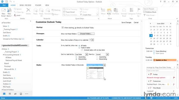 Using Outlook Today: Outlook 2013 Power Shortcuts