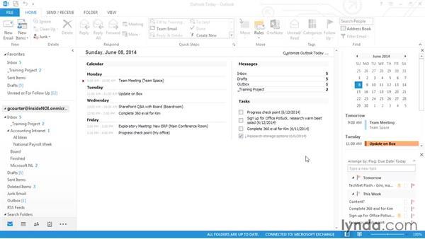 Working offline: Outlook 2013 Power Shortcuts