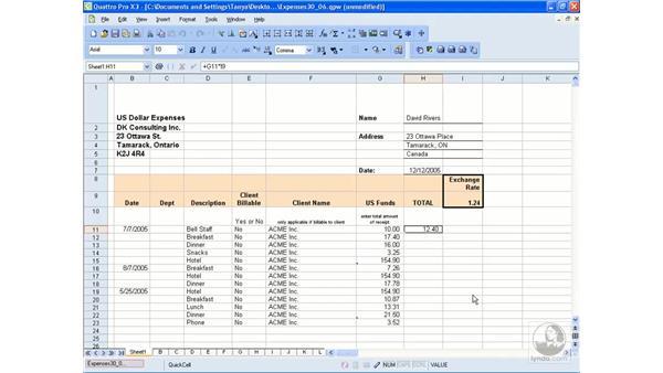 Validating data: WordPerfect Office X3 Essential Training