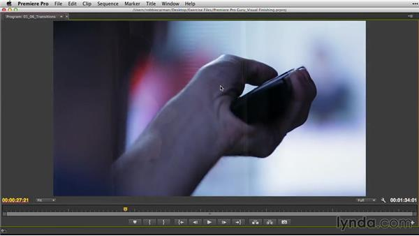 Checking transitions: Premiere Pro Guru: Video Finishing Techniques