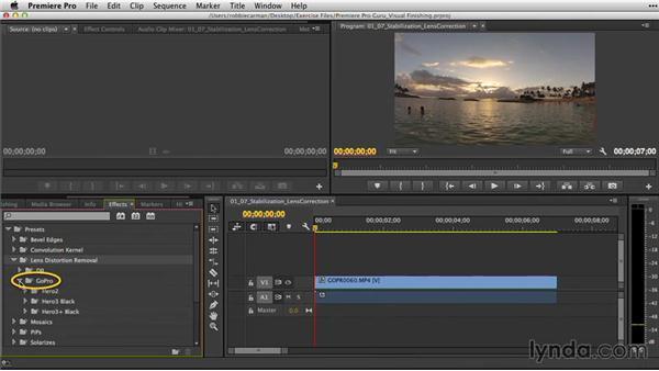 Lens correction: Premiere Pro Guru: Video Finishing Techniques