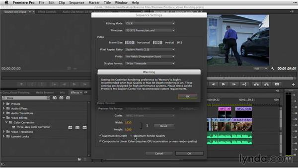 Improving render quality with sequence settings: Premiere Pro Guru: Video Finishing Techniques