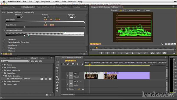 Fixing common contrast problems: Premiere Pro Guru: Video Finishing Techniques