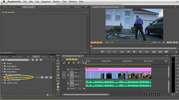 Adjustment layers for color correction: Premiere Pro Guru: Video Finishing Techniques