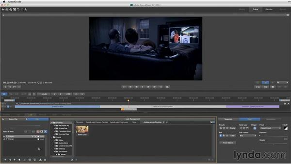 Developing a look in SpeedGrade to use in Premiere Pro: Premiere Pro Guru: Video Finishing Techniques