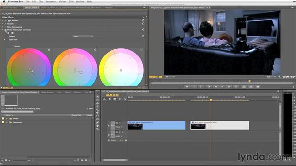 Noise reduction with SpeedGrade and After Effects: Premiere Pro Guru: Video Finishing Techniques