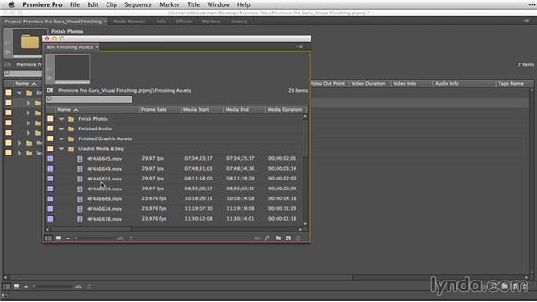 Importing finished assets: Premiere Pro Guru: Video Finishing Techniques