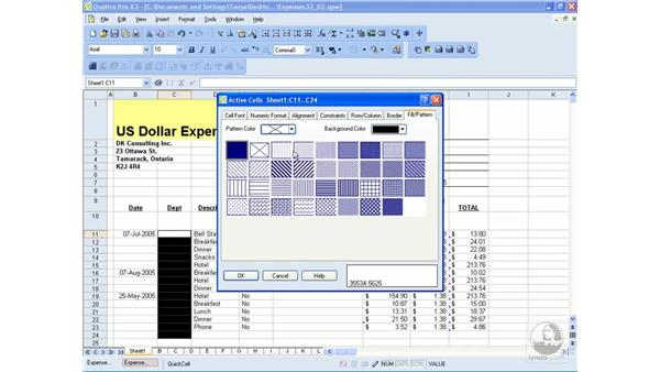 Fills, patterns and borders: WordPerfect Office X3 Essential Training