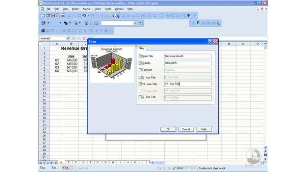 Inserting charts: WordPerfect Office X3 Essential Training