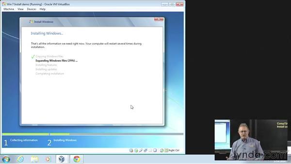 Install example Windows 7: CompTIA A+ Exam Prep (220-802)
