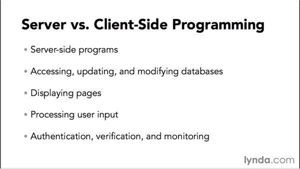 Server-side vs. client-side programming: Java EE Essentials: Enterprise JavaBeans