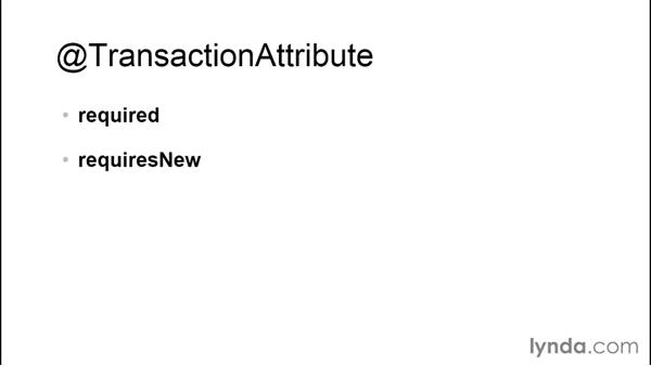 Transactions: Java EE Essentials: Enterprise JavaBeans
