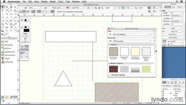 Tool palettes: Up and Running with Vectorworks