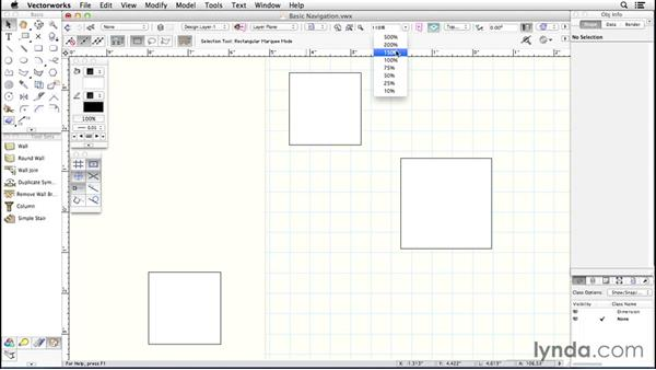 Basic navigation: Up and Running with Vectorworks