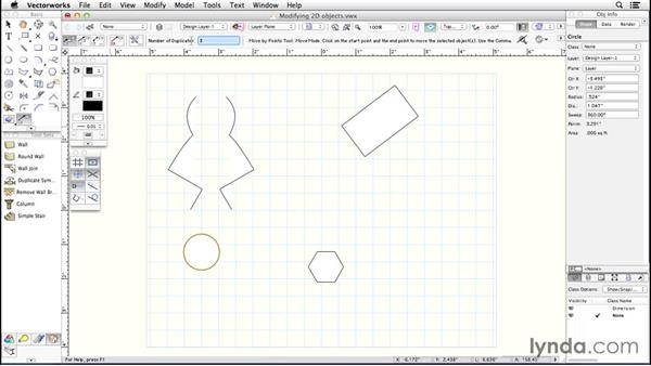 Modifying 2D objects: Up and Running with Vectorworks