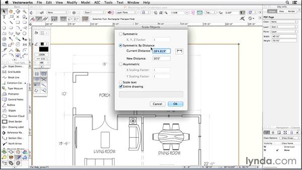 Using underlay files: Up and Running with Vectorworks