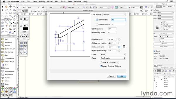Create a basic roof: Up and Running with Vectorworks