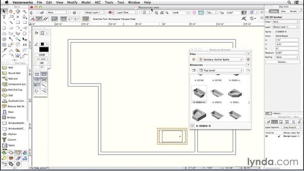 Resource settings: Up and Running with Vectorworks