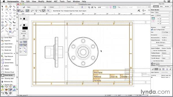 Inserting title blocks: Up and Running with Vectorworks