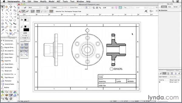 Advanced viewports: Up and Running with Vectorworks
