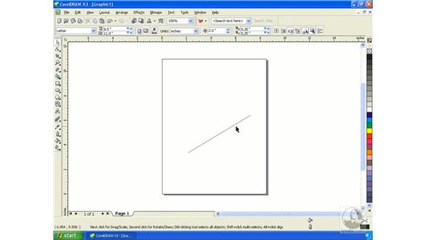 Using the drawing tools: Getting Started with CorelDRAW Graphics Suite X3