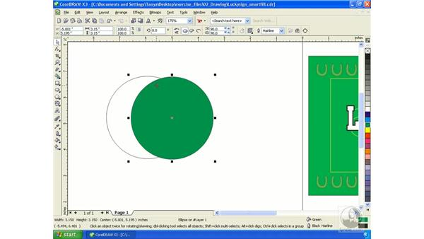 Filling with the SmartFill tool: Getting Started with CorelDRAW Graphics Suite X3