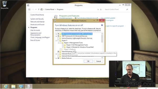 The Hyper-V client: Managing Windows 8