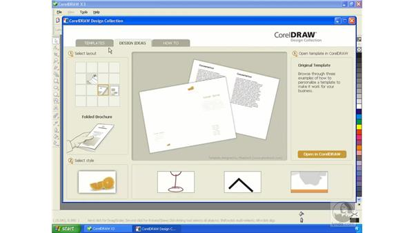 Working with templates (Corel design collection): Getting Started with CorelDRAW Graphics Suite X3