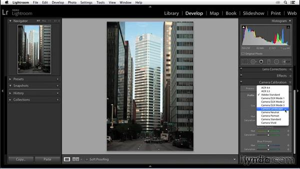 Choosing a camera profile: Enhancing an Urban Landscape Photo with Lightroom and Photoshop