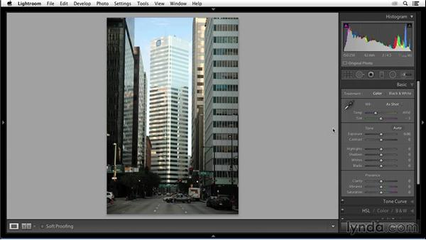 Setting white balance: Enhancing an Urban Landscape Photo with Lightroom and Photoshop