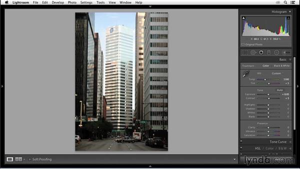 Optimizing the tonal range: Enhancing an Urban Landscape Photo with Lightroom and Photoshop