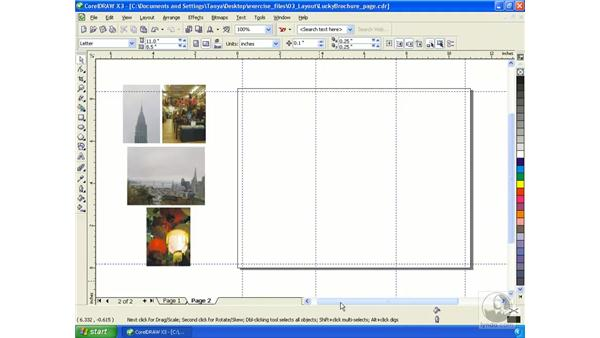Controlling page layout: Getting Started with CorelDRAW Graphics Suite X3