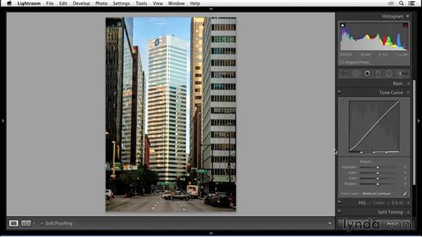 Simplifying the tone curve: Enhancing an Urban Landscape Photo with Lightroom and Photoshop