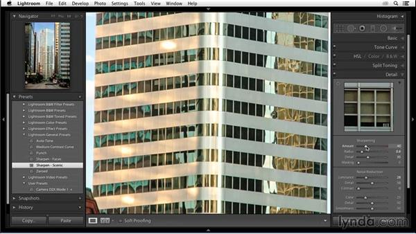 Capture sharpening a high-frequency scene: Enhancing an Urban Landscape Photo with Lightroom and Photoshop